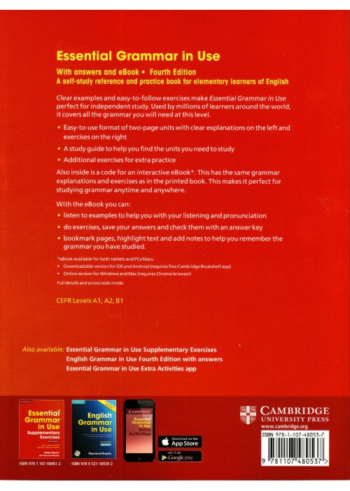 Essential Grammar in Use 4th Edition Book with Answers  Raymond