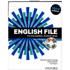 English File Third Edition Pre-intermedia Student's Book with iTutor (DVD-ROM) + Workbook with iChecker (CD-ROM)